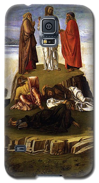 Galaxy S5 Case featuring the painting Transfiguration Of Christ On Mount Tabor 1455 Giovanni Bellini by Karon Melillo DeVega