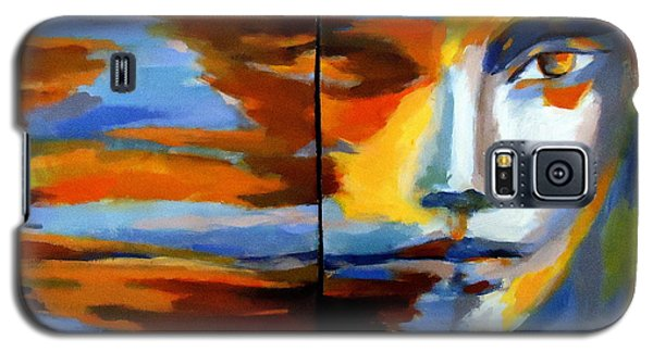 Galaxy S5 Case featuring the painting Transition - Diptic by Helena Wierzbicki