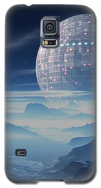 Tranus Alien Planet With Satellite Galaxy S5 Case
