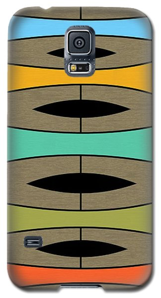 Trapezoids On Brown Galaxy S5 Case