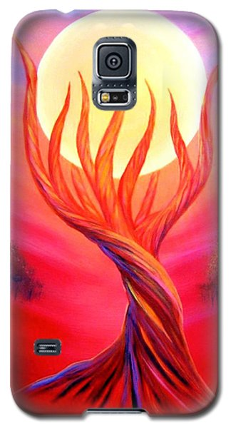 Galaxy S5 Case featuring the painting Trapped Moon by Lilia D