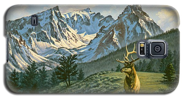 Bull Galaxy S5 Case - Trapper Peak - Bull Elk by Paul Krapf