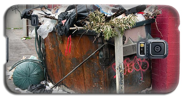 Galaxy S5 Case featuring the photograph Trash Dumpster In Slums by Gunter Nezhoda