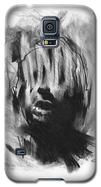 Galaxy S5 Case featuring the drawing Gaza Trauma by Paul Davenport