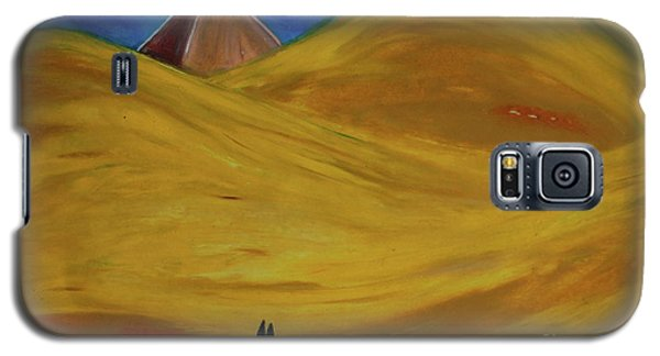 Galaxy S5 Case featuring the drawing Travelers Desert by First Star Art