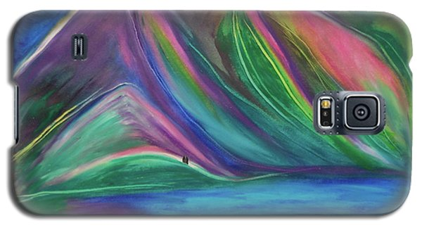 Galaxy S5 Case featuring the painting Travelers Mountains By Jrr by First Star Art