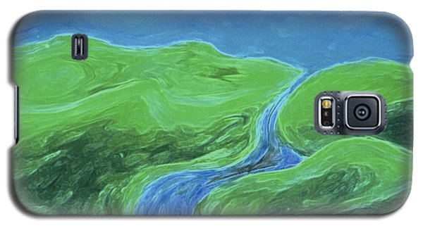 Galaxy S5 Case featuring the painting Travelers Upstream By Jrr by First Star Art