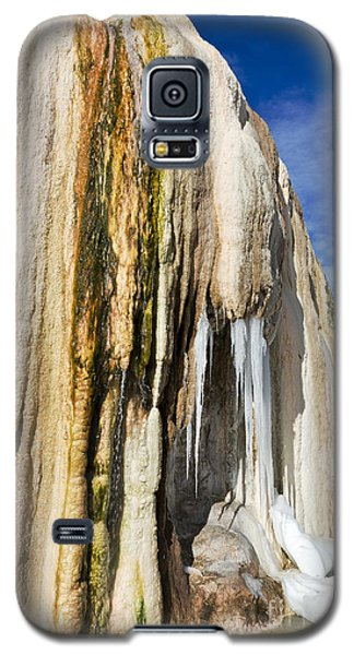 Galaxy S5 Case featuring the photograph Travertine And Water And Ice by Sue Smith