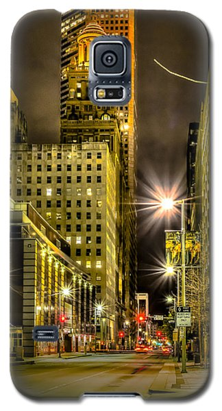 Travis And Lamar Street At Night Galaxy S5 Case