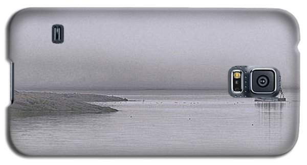 Galaxy S5 Case featuring the photograph Trawler In Fog by Marty Saccone