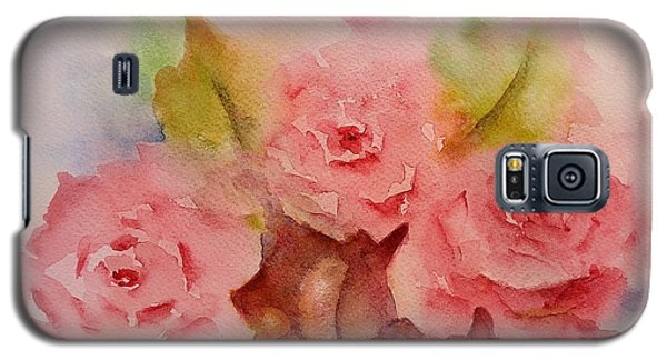 Galaxy S5 Case featuring the painting Tre Rose by Kathleen Pio