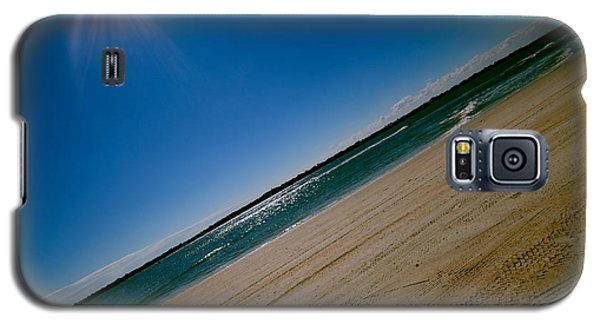 Galaxy S5 Case featuring the photograph Treads In The Sand by DigiArt Diaries by Vicky B Fuller
