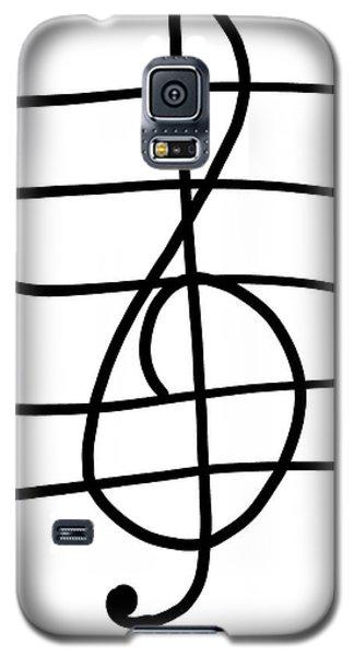 Treble Clef Galaxy S5 Case by Jada Johnson