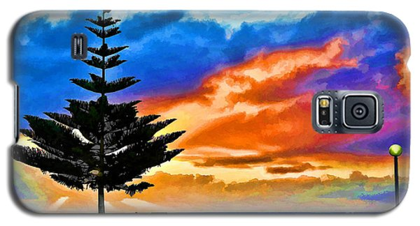 Tree And Sunset Galaxy S5 Case