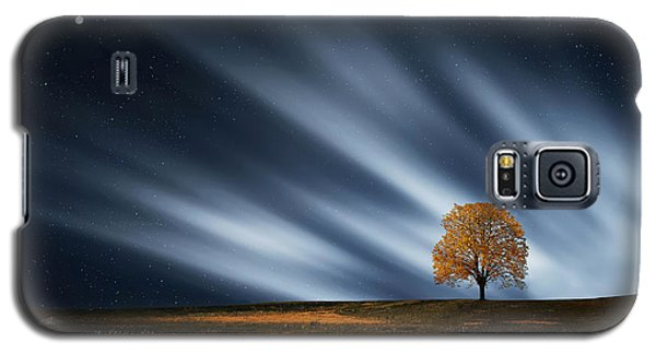 Tree At Night With Stars Galaxy S5 Case