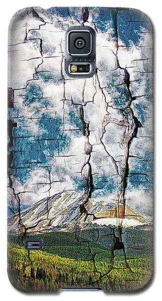 Tree Bark Mountain Tapestry Galaxy S5 Case