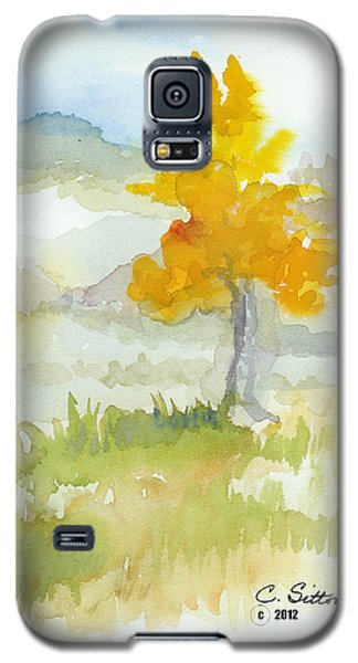 Galaxy S5 Case featuring the painting Tree by C Sitton