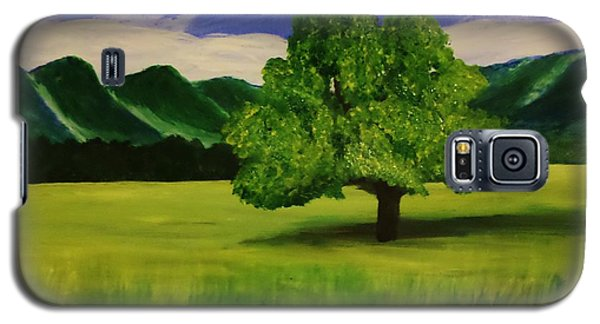 Tree In A Field Galaxy S5 Case by Christy Saunders Church