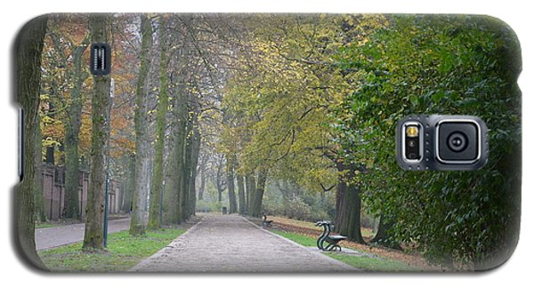Galaxy S5 Case featuring the photograph Tree Lined Path In Fall Season Bruges Belgium by Imran Ahmed