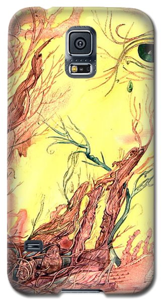 Galaxy S5 Case featuring the painting Tree Of Knowledge by Mikhail Savchenko