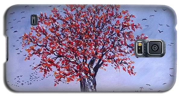 Galaxy S5 Case featuring the painting Tree Of Life by Nina Mitkova