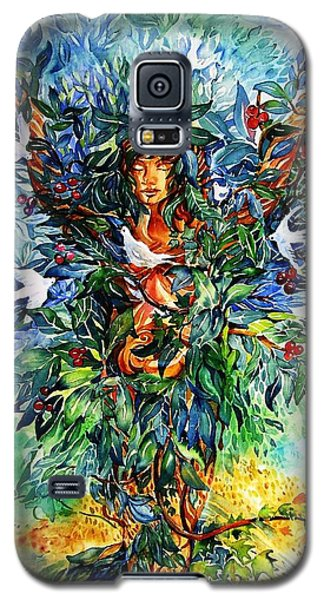 Galaxy S5 Case featuring the painting Tree Of Life  by Trudi Doyle