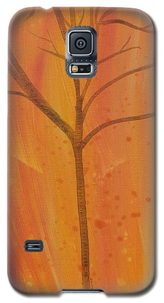Galaxy S5 Case featuring the painting Tree Of Three Coral by Robin Maria Pedrero