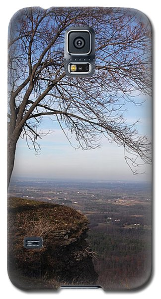 Galaxy S5 Case featuring the photograph Tree On A Mountain Edge by Vadim Levin