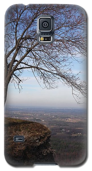Tree On A Mountain Edge Galaxy S5 Case