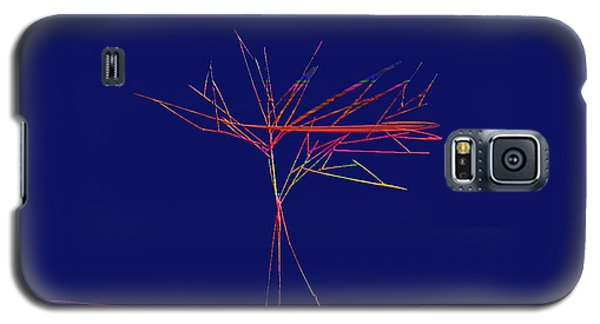 Galaxy S5 Case featuring the digital art Tree Outline by Asok Mukhopadhyay