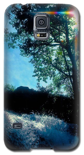 Galaxy S5 Case featuring the photograph Tree Planted By Streams Of Water by Marie Hicks