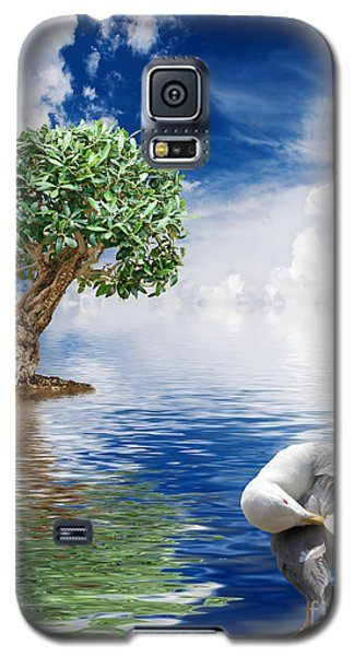 Tree Seagull And Sea Galaxy S5 Case