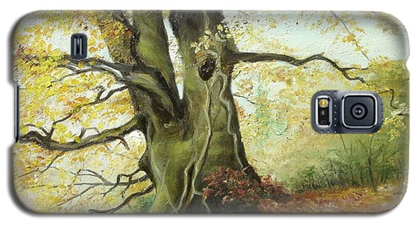 Galaxy S5 Case featuring the painting Tree by Sorin Apostolescu