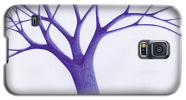 Galaxy S5 Case featuring the drawing Tree - The Great Hand Of Nature by Giuseppe Epifani
