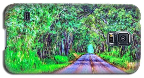 Tree Tunnel Kauai Galaxy S5 Case by Dominic Piperata