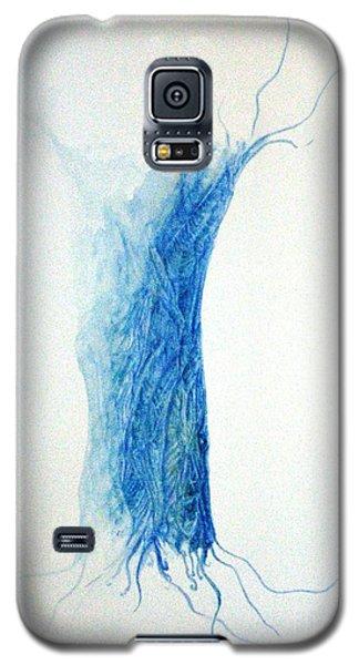 Tree Weaving In Blue Galaxy S5 Case