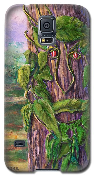 Tree With A Leaf Face Landscape Art Galaxy S5 Case