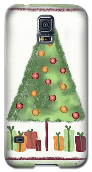 Galaxy S5 Case featuring the digital art Tree With Presents by Arline Wagner
