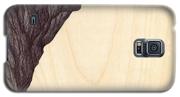 Galaxy S5 Case featuring the drawing Treerock  by Giuseppe Epifani