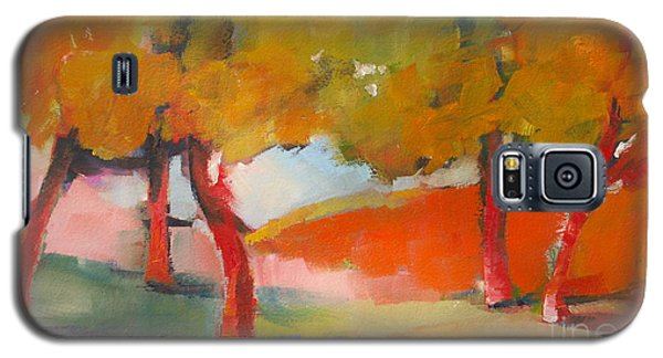 Galaxy S5 Case featuring the painting Trees #5 by Michelle Abrams