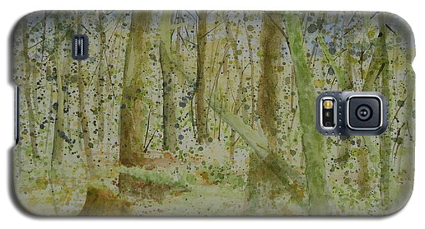 Galaxy S5 Case featuring the painting Trees Around Newhalem Campground by Joel Deutsch