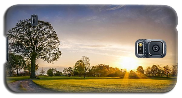 Trees At Dawn On Golf Course Galaxy S5 Case