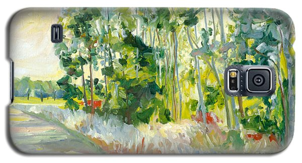 Trees By A Road Galaxy S5 Case