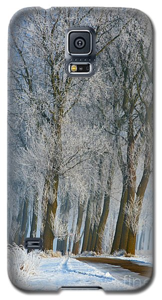 Galaxy S5 Case featuring the photograph Trees In A Snowy Environment by Nick  Biemans