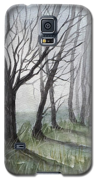 Trees In Fog Galaxy S5 Case