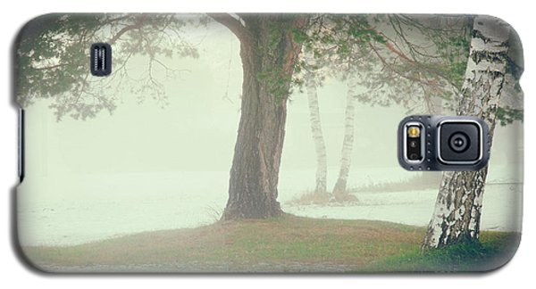 Galaxy S5 Case featuring the photograph Trees In Fog by Silvia Ganora