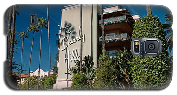Trees In Front Of A Hotel, Beverly Galaxy S5 Case by Panoramic Images