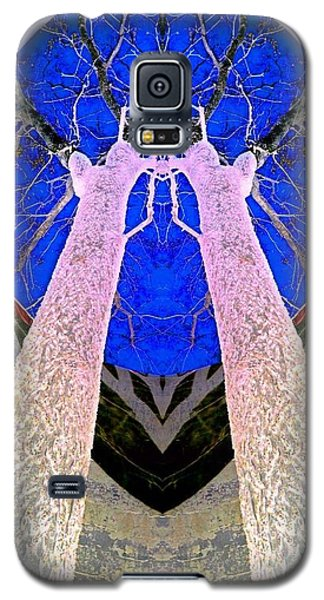 Trees In Silo Galaxy S5 Case by Karen Newell