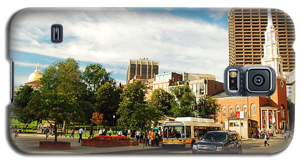 Galaxy S5 Case featuring the photograph Tremont Street In Boston by James Kirkikis