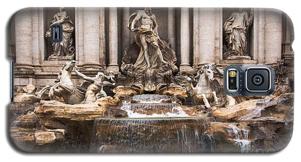 Galaxy S5 Case featuring the photograph Trevi Fountain by John Wadleigh
